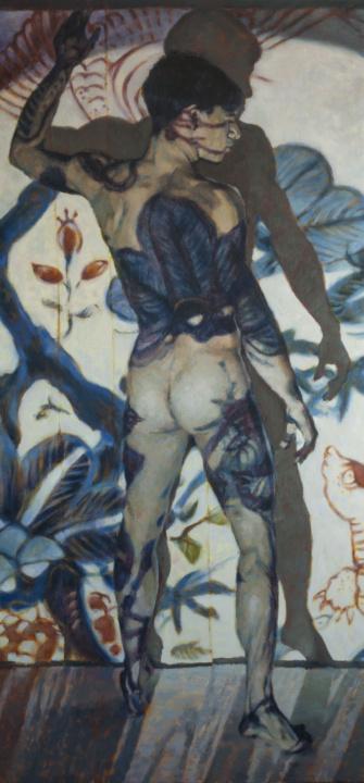 blue series nude man