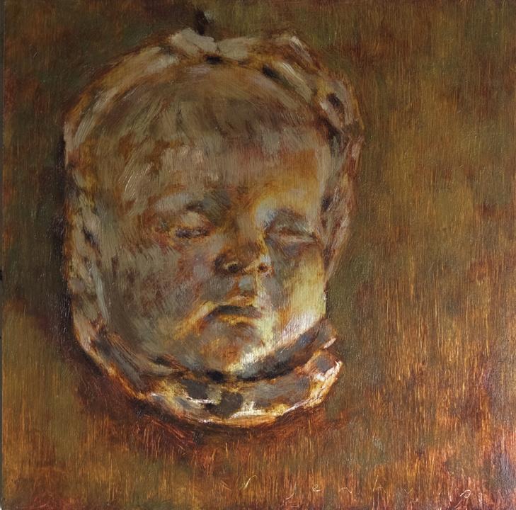 babyface death mask of baby